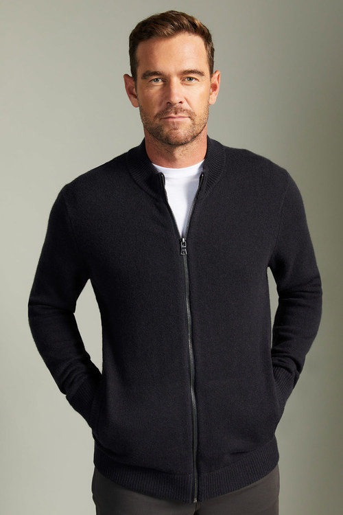 Southcape Lambswool Zip Up Cardigan