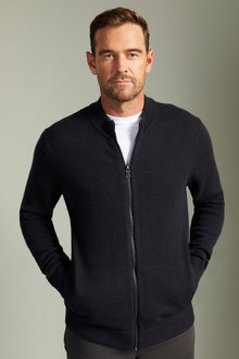 Southcape Lambswool Zip Up Cardigan - 254571
