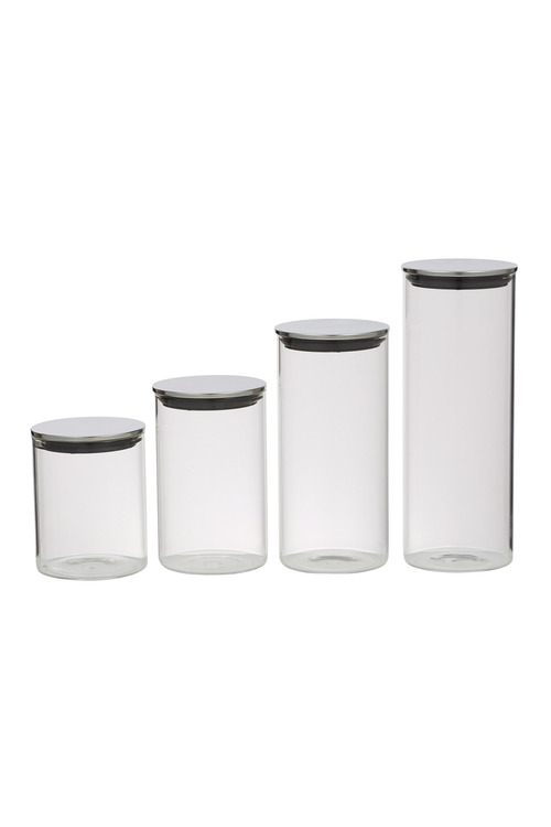 Davis & Waddell Glass Canister Set of Four