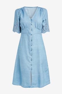 Next Cutwork Embroidered Dress-Tall - 254666
