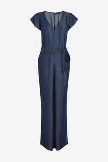 Next TENCEL Frill Detail Jumpsuit-Tall - 254680