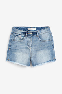 Next High Waist Distressed Denim Shorts-Tall - 254681