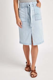 Next Belted Denim Midi Skirt - 254712