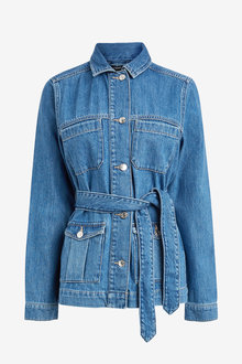 Next Belted Denim Jacket - 254727