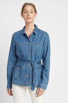 Next Belted Denim Jacket-Tall - 254738