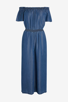 Next Off The Shoulder TENCEL Jumpsuit-Tall