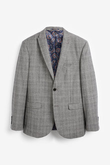 Next Marzotto Signature Check Suit: Jacket-Tailored Fit - 254795