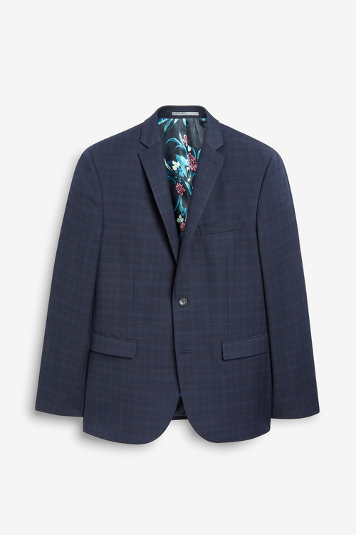 Next Check Suit: Jacket-Super Skinny Fit
