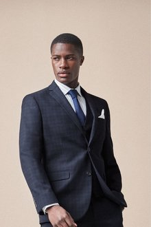 Next Check Suit: Jacket-Super Skinny Fit - 254798