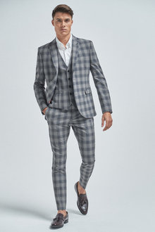 Next Check Suit: Jacket-Super Skinny Fit - 254799