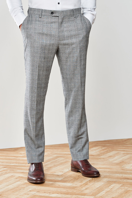 Next Marzotto Signature Check Suit: Trousers-Tailored Fit