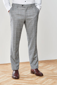 Next Marzotto Signature Check Suit: Trousers-Tailored Fit - 254810