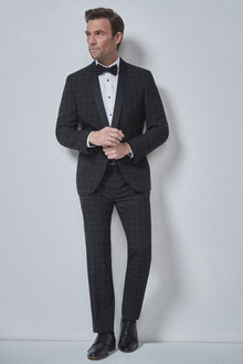 Next Check Tuxedo Suit: Jacket - 254813