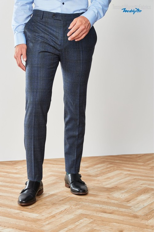 Next Marzotto Signature Check Suit: Trousers-Skinny Fit
