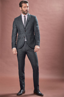 Next Marzotto Signature Textured Suit: Jacket - 254925