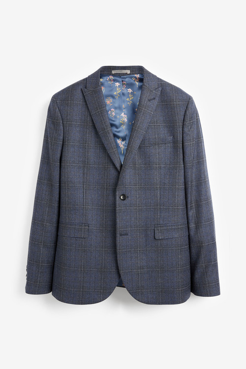 Next Marzotto Signature Check Suit: Jacket-Skinny Fit