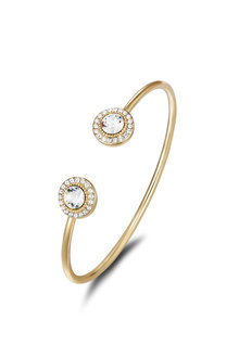 Mestige Gold Golden Ayla Bangle with Swarovski® Crystals - 255005