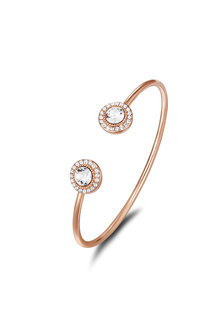 Mestige Rose Rose Gold Ayla Bangle with Swarovski® Crystals - 255006