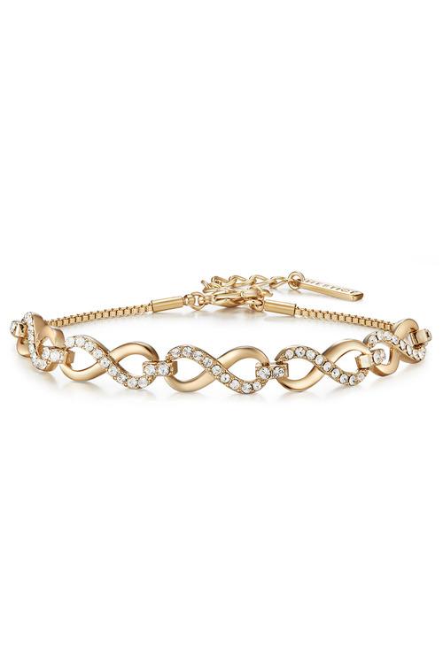 Mestige Gold Gold Only You Bracelet with Swarovski® Crystals