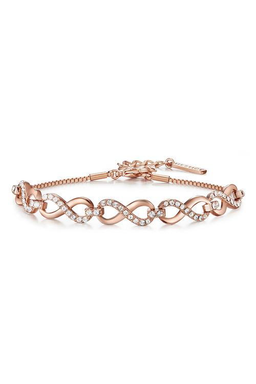Mestige Rose Rose Gold Only You Bracelet with Swarovski® Crystals