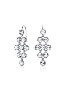 Mestige Silver Larisa Earrings with Swarovski® Crystals - 255012