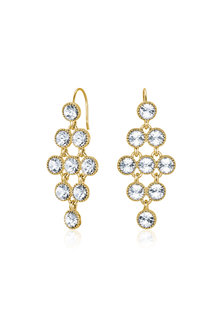 Mestige Gold Golden Larisa Earrings with Swarovski® Crystals - 255013
