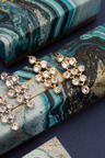Mestige Gold Golden Larisa Earrings with Swarovski® Crystals