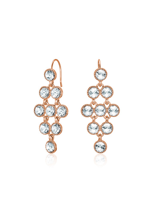 Mestige Rose Rose Gold Larisa Earrings with Swarovski® Crystals