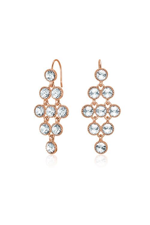 Mestige Rose Rose Gold Larisa Earrings with Swarovski® Crystals