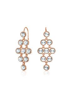 Mestige Rose Rose Gold Larisa Earrings with Swarovski® Crystals - 255014