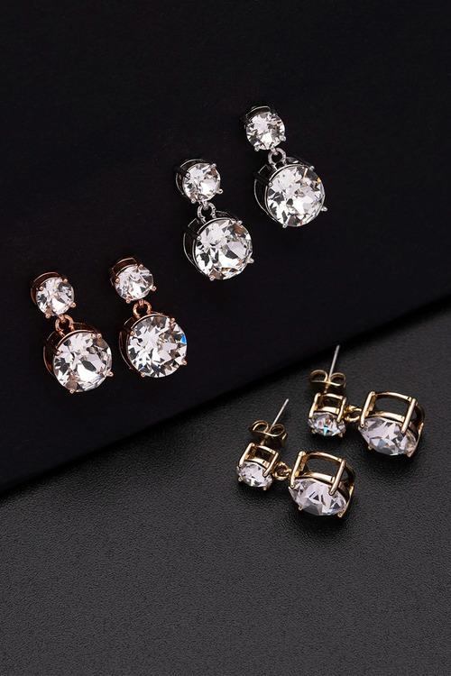 Mestige Gold Golden Lauren Earrings with Swarovski® Crystals