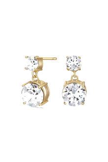 Mestige Gold Golden Lauren Earrings with Swarovski® Crystals - 255016