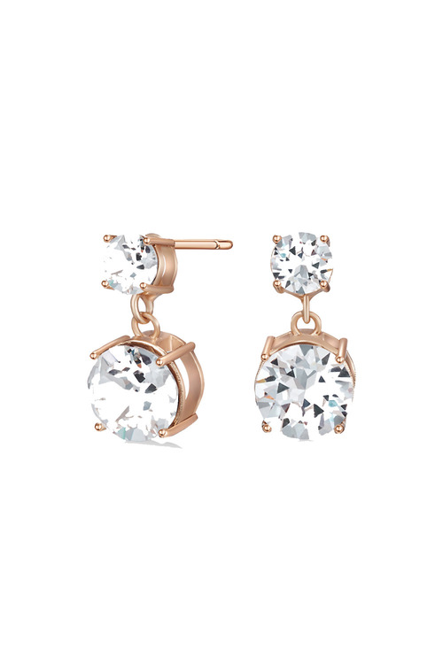 Mestige Rose Rose Gold Lauren Earrings with Swarovski® Crystals