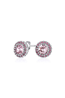 Mestige Silver Rose Mallory Earrings with Swarovski® Crystals - 255019