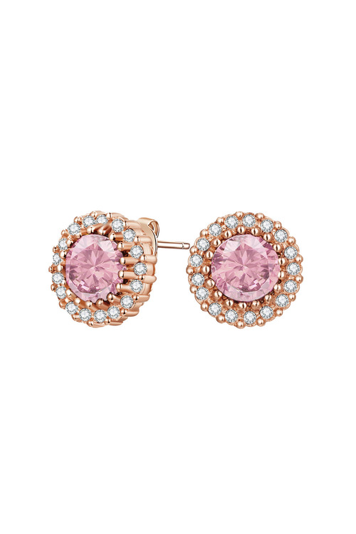 Mestige Rose Rose Gold Mallory Earrings with Swarovski® Crystals