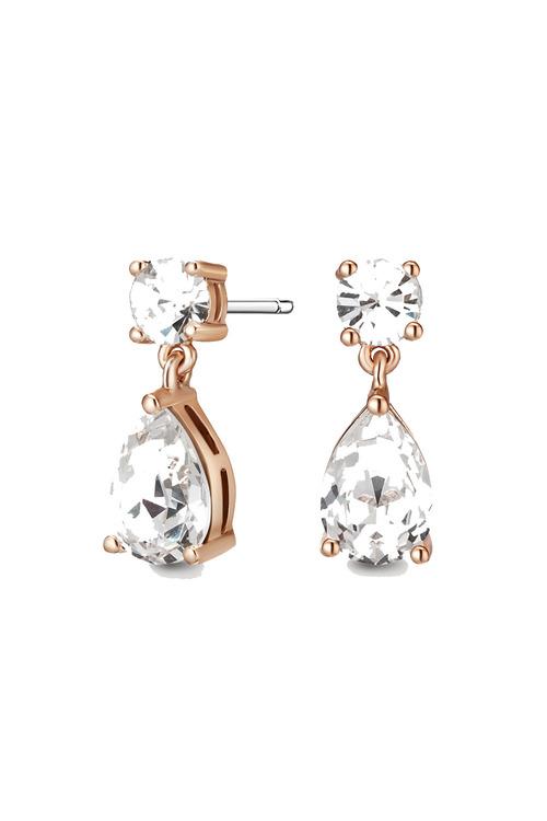 Mestige Rose Rose Gold Samira Earrings with Swarovski® Crystals