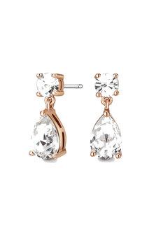Mestige Rose Rose Gold Samira Earrings with Swarovski® Crystals - 255023