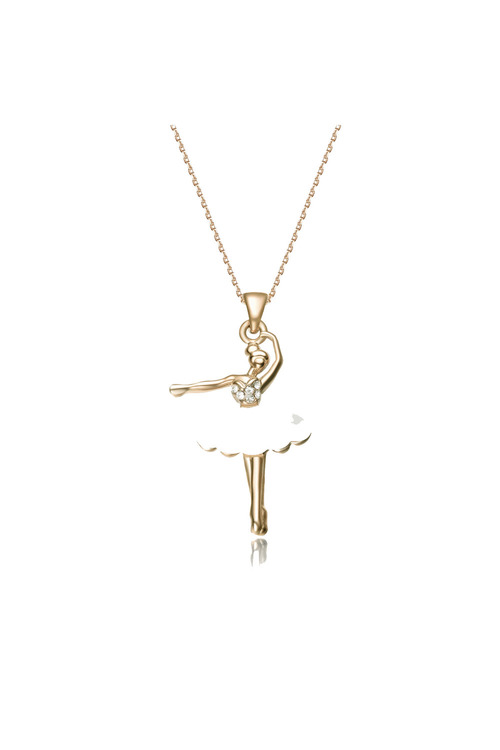 Mestige Gold Ballerina Necklace with Swarovski® Crystals