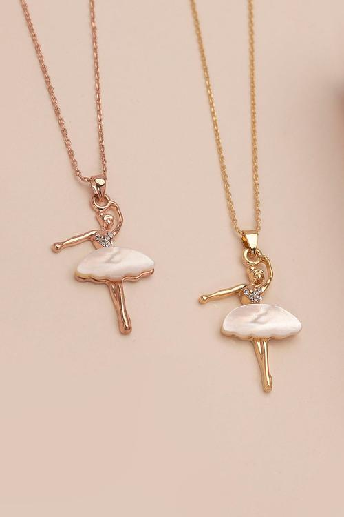 Mestige Gold Ballerina Necklace with Swarovski® Crystals
