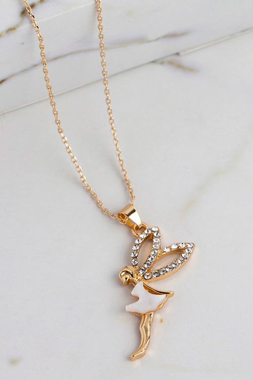 Mestige Gold Fairy Dust Necklace with Swarovski® Crystals