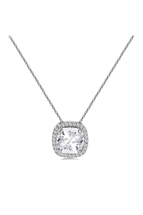Mestige Silver Charity Necklace with Swarovski® Crystals