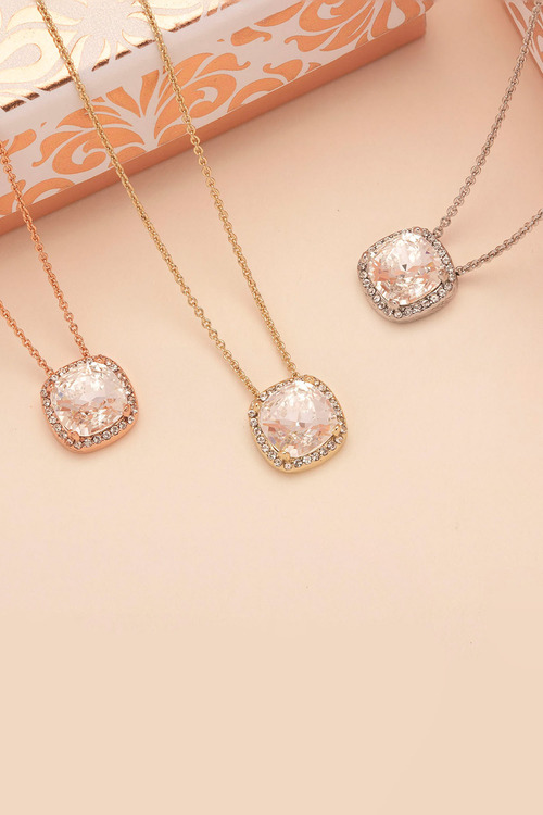 Mestige Gold Golden Charity Necklace with Swarovski® Crystals