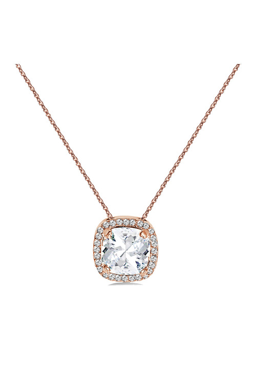 Mestige Rose Rose Gold Charity Necklace with Swarovski® Crystals