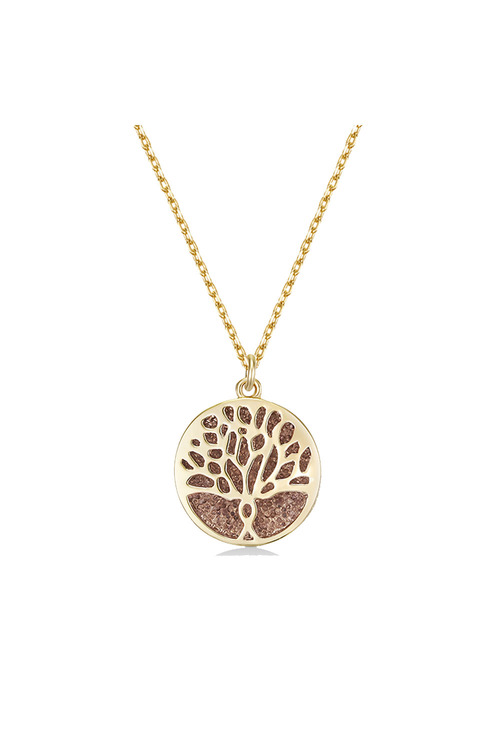 Mestige Gold Gold Faithful Tree Necklace with Swarovski® Crystals