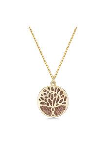 Mestige Gold Gold Faithful Tree Necklace with Swarovski® Crystals - 255034
