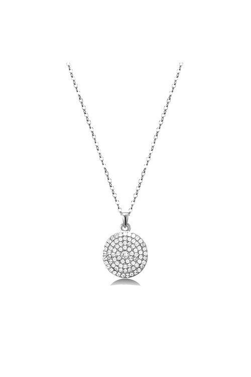 Mestige Silver Genesis Necklace with Swarovski® Crystals