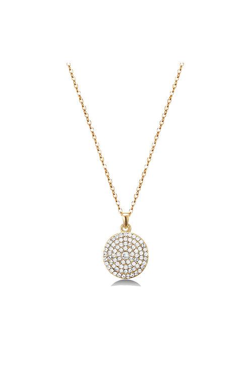 Mestige Gold Golden Genesis Necklace with Swarovski® Crystals