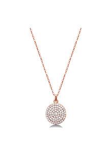 Mestige Rose Rose Gold Genesis Necklace with Swarovski® Crystals - 255037