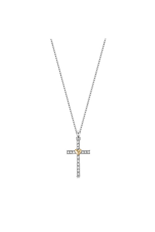 Mestige Silver Holy Love Necklace with Swarovski® Crystals