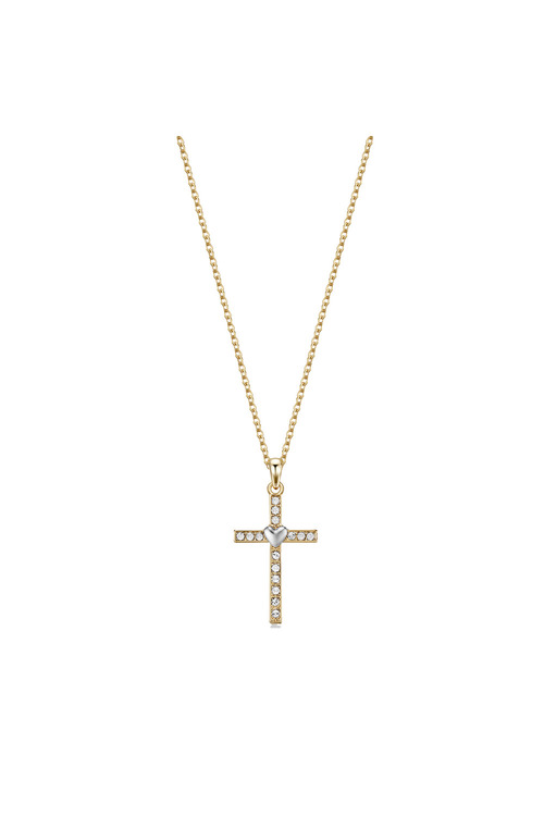 Mestige Gold Gold Holy Love Necklace with Swarovski® Crystals